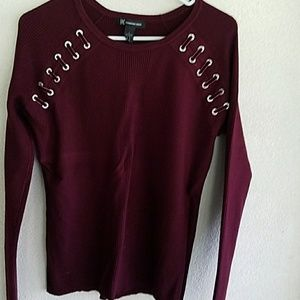 INC Scoop neck sweater in plum color